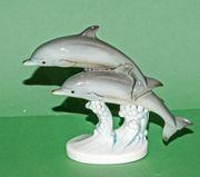 GOEBELFIGUR Springende Delfine
