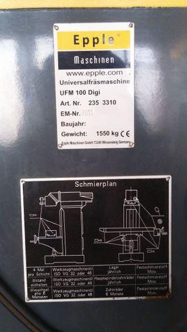 Werkzeuge, Zubehör - Epple UFM 100 Digi - Universalfräsmaschine
