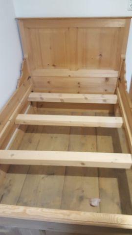 Bild 4 - Antikes Holzbett Bauernbett - Bludenz