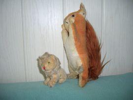 2 alte Steiff Tiere - Löwe und Eichhörnchen