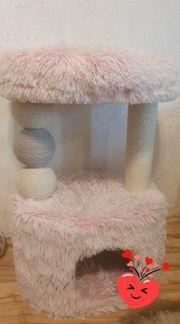 Kratzbaum in Rosa Zubehör Spielzeug