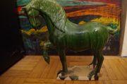 China Porzellan Tan Pferd Grün