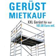 Gerüst-Mietkauf - XXL Rollgerüst für 107 -
