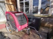 Fahrradanhänger plus Jogger-Umbausatz für Hunde