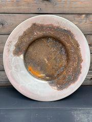 Rost Gartendekoration große Schale Teller