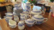 Kaffee- Teeservice China-Blau 6 Pers