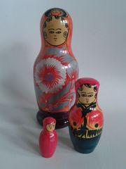 3 alte Matrjoschka Matroschka Puppen
