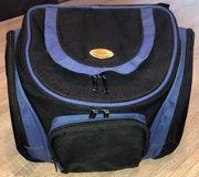 kleiner Foto-Rucksack schwarz-blau von Vivanco