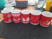 5 Weihnachtstassen