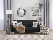 3-Sitzer Sofa Kunstleder schwarz ABERDEEN neu
