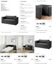 Sofa mit Schlaffunktion - grau