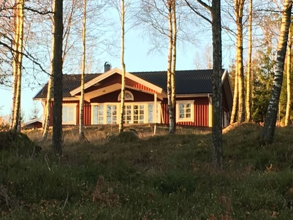 luxuriöses Ferienhaus Schweden Seeblick großes