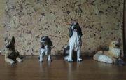 4 Kunststein-Tierfiguren