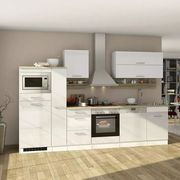 Küchenblock in Weiss inkl E-Geräte