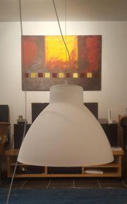 schöne Milchglas-Pendelleuchte Deckenlampe MESA von