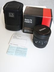Sigma 8mm F4 EX DG