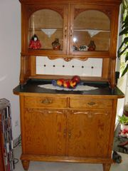 Vitrinenschrank aus Holz - Bücherschrank - Kleiderschrank -