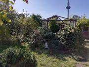 Garten mit Blick auf Fernsehturm