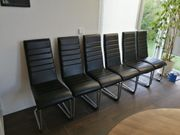 6x Schwingstuhl schwarz