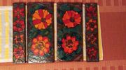 4x Ruscha Keramik Fliese Wandbilder