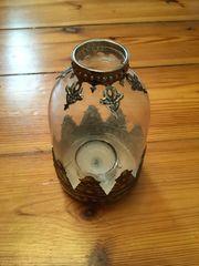 Stimmungsvolles Kerzenlicht Teelicht-Halter Glas Metall