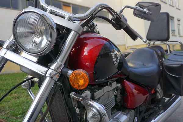 Motorrad Chopper Kawasaki 500er gebraucht