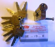 BKS-Schließzylinder mit Sicherungskarte und 12