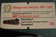 Zuglaufschild 90 Jahre Müngstener Brücke