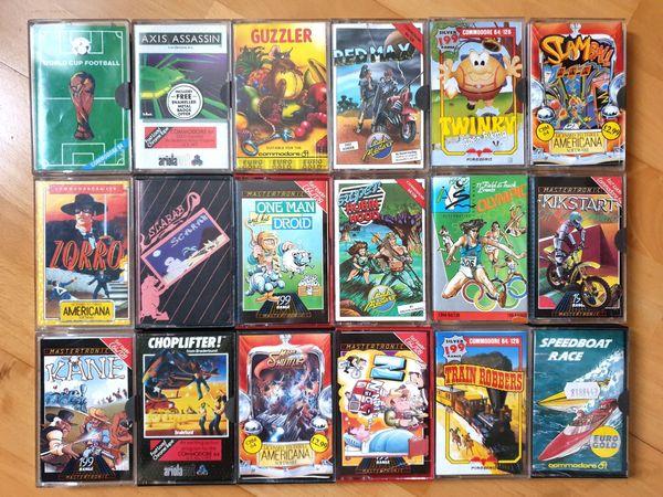 18 x Commodore Games C64