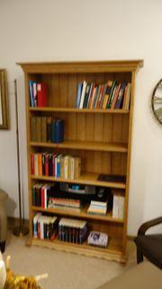 Bücherregal Eiche massiv gelaugt u
