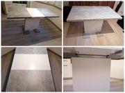 Esstisch weiß betonoptik