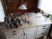 Haushaltsauflösung viele Gläser Bierkrüge verschenken