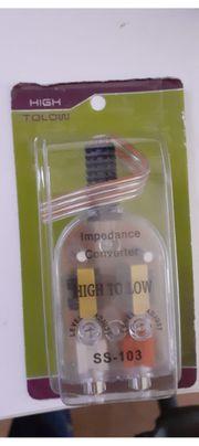 Lautsprecherkabel auf Cinch Adapter Converter