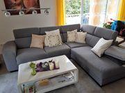 VERKAUFE Sofa Couch Ecksofa grau