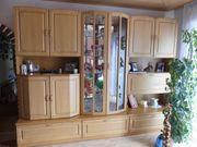 Hochwertiger Wohnzimmerschrank Buche incl Glasvitrine -