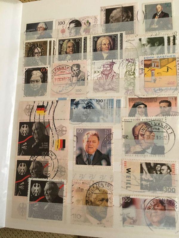 3 Briefmarken-Alben