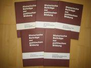5 Bücher Historische Beiträge zur