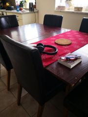 tischgruppe 4 Stühle in lederoptik