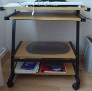 PC-Tisch Holz Metall ausziehbar