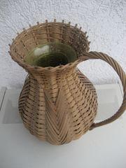 Blumenvase Vase Korbgeflecht als Krug