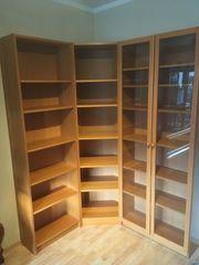 IKEA Billy Bücher-Eck-Regal mit Glastüren