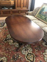 Wohnzimmertisch höhenverstellbar ausziehbar Echtholz Tisch