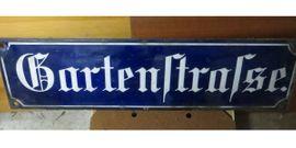 Sonstige Antiquitäten - Emailschild alt Schild Strassenschild gewölbt