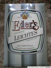 Werbeschild - Brauerei Eder