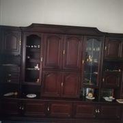 Wohnzimmer Schrank Mahagoni Holz mit