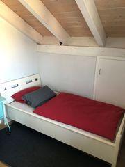 schönes Bett weiß robust 100cm