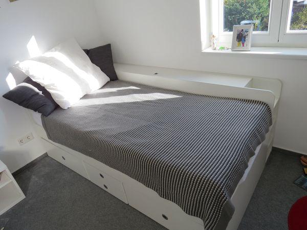 Schönes Weisses Bett Mit Schubladenbettkasten Besser Als Ikea In