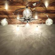 Moderne Deckenleuchte Chrom rund Lampe