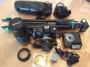 Analoge Nikon F-301 Kamera mit