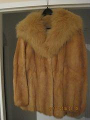 Damen-Pelzjacke Rotfuchs Waschbär-Kragen Größe 38